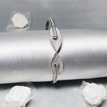 Load image into Gallery viewer, Silver Helix Curve Bracelet-GIVA Jewellery