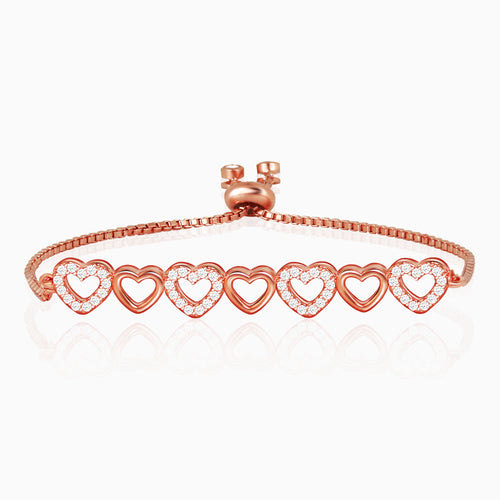Rose Gold Queen of Hearts Bracelet