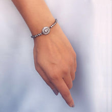 Load image into Gallery viewer, Silver Rhodium Black Brilliance Bracelet