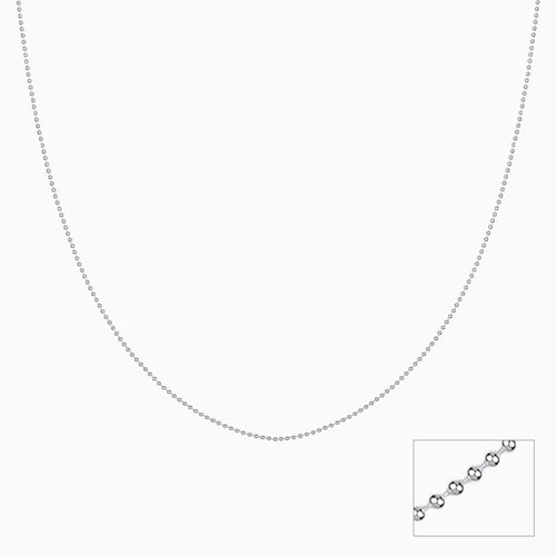 Silver Classic Dainty Bead Chain