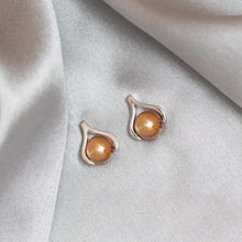 Load image into Gallery viewer, Rose Gold Sphere Earrings-GIVA Jewellery