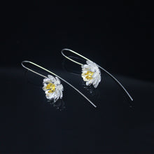 Load image into Gallery viewer, Gold Silver Flower Earrings-GIVA Jewellery