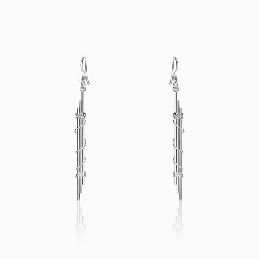 Silver Dainty Rope Earrings
