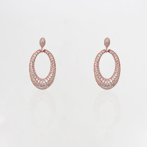 Rose Gold Bold Dangler Earrings