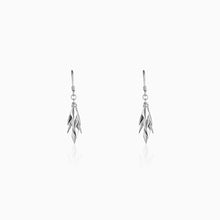 Load image into Gallery viewer, Silver Sharp Dangle Earrings