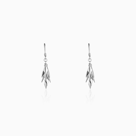 Silver Sharp Dangle Earrings