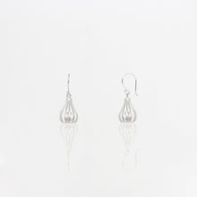 Load image into Gallery viewer, Silver Pearl Cage Earrings