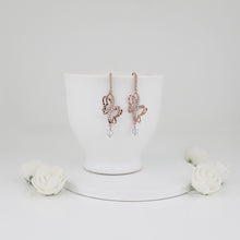 Load image into Gallery viewer, Rose Gold Shining Butterfly Earrings