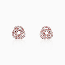Load image into Gallery viewer, Rose Gold Embrace Stud Earrings