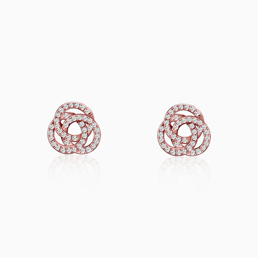 Rose Gold Embrace Stud Earrings