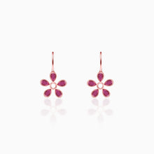 Load image into Gallery viewer, Silver Cherry Blossom Earrings