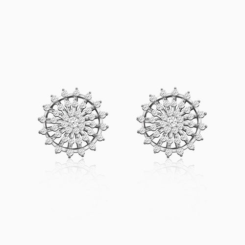 Silver Wheel of Life Earrings