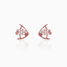 Load image into Gallery viewer, Rose Gold Fish Earrings