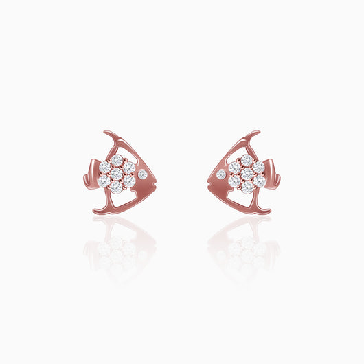 Rose Gold Fish Earrings
