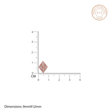 Load image into Gallery viewer, Rose Gold Diamond Stud Earrings