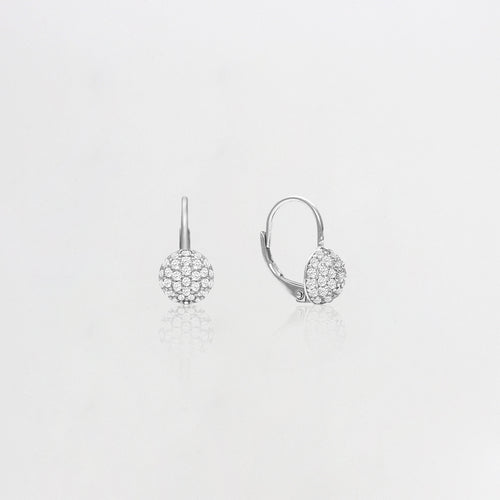 Silver Zircon Sparkle Drop Earrings