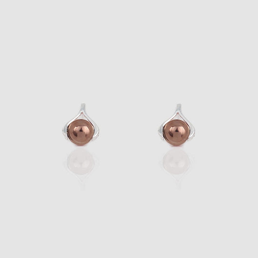 Rose Gold Sphere Earrings