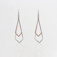 Load image into Gallery viewer, Dual Tone Sparkling Jingle Earrings