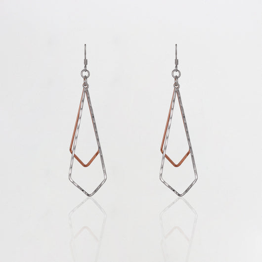 Dual Tone Sparkling Jingle Earrings