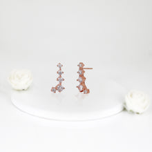 Load image into Gallery viewer, Rose Gold Sparkling Constellation Earrings