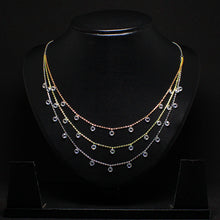 Load image into Gallery viewer, Multi-Tone Triple Layered Queens Necklace-GIVA Jewellery