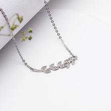 Load image into Gallery viewer, Silver Leaf Pendant with Chain