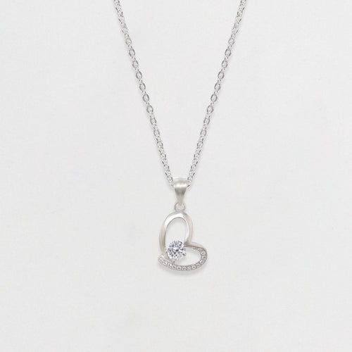 Silver Shine Heart Necklace