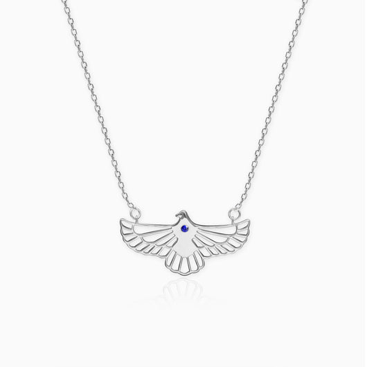 Silver Soaring Dove Necklace