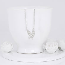 Load image into Gallery viewer, Silver Zircon Mockingbird Necklace
