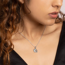 Load image into Gallery viewer, Silver Dual Dolphin Pendant with Link Chain