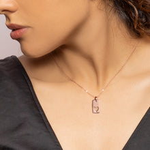 Load image into Gallery viewer, Rose Gold Heart Tag Pendant with Link Chain