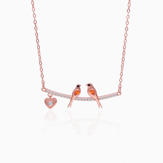 Rose Gold Love Bird Necklace