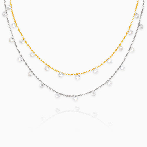 Silver Gold Layered Queens Necklace