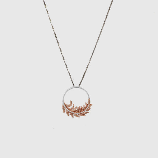 Rose Gold Feather Pendant