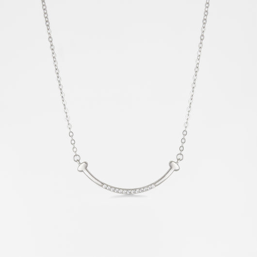Silver Dazzling Smile Necklace