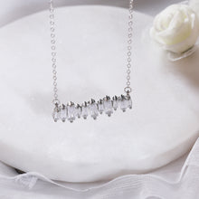 Load image into Gallery viewer, Silver Classic Baguette Necklace