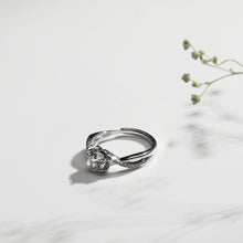 Load image into Gallery viewer, Silver Zircon Shining Flower Ring