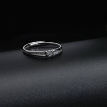 Load image into Gallery viewer, Minimal Silver Zircon Ring For Him