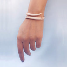 Load image into Gallery viewer, Silver Rose Gold Rattle Cuff Bracelet