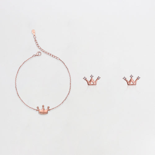 Rose Gold Princess Crown Set