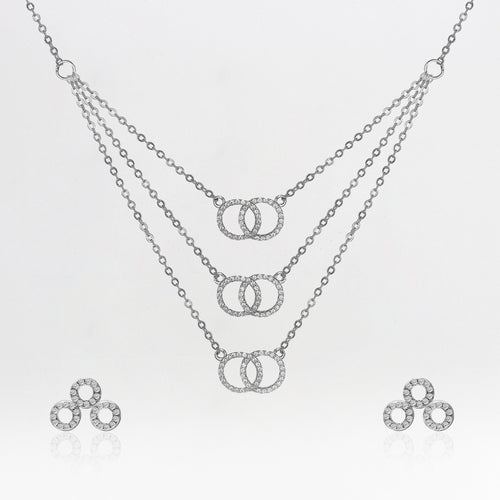 Silver Zircon Infinite Embrace Set