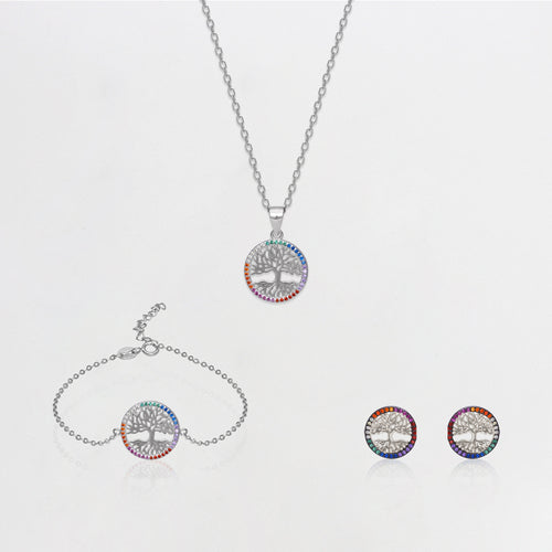 Silver Rainbow Tree of Life Collection