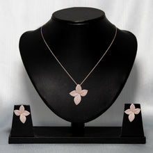 Load image into Gallery viewer, Rose Gold Flower Set