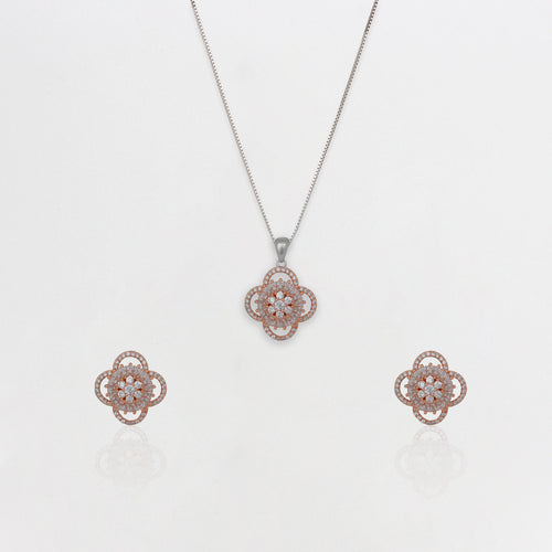 Rose Gold Clover Set