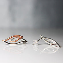 Load image into Gallery viewer, Rose Gold Flame Earrings-GIVA Jewellery