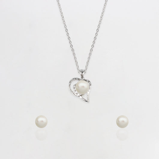 Soulful Pearl Set with Link Chain