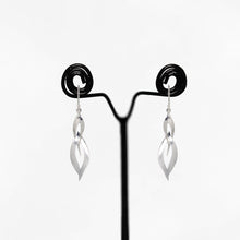 Load image into Gallery viewer, Silver Double Dangle Flame Earrings