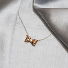 Load image into Gallery viewer, Rose Gold Lace Bow Pendant With Chain-GIVA Jewellery