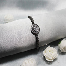 Load image into Gallery viewer, Silver Rhodium Black Brilliance Bracelet-GIVA Jewellery