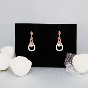 Rose Gold Drizzle Drop Earrings